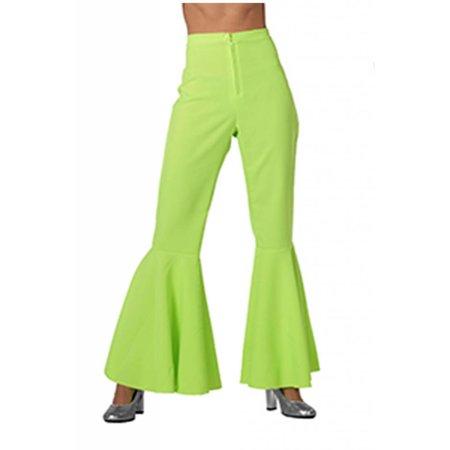 Hippie broek neon groen vrouw