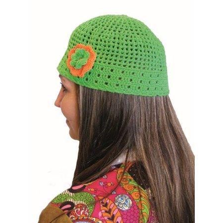 Muts Hippie gehaakt groen