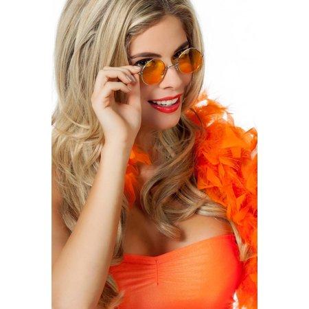 Hippie bril oranje