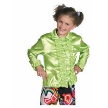 Hippie/Disco blouse kind groen