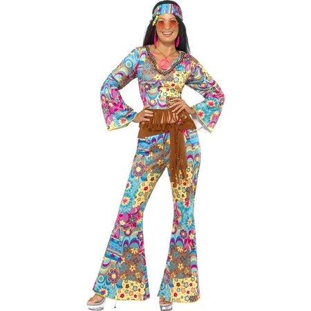 Hippy flower power kostuum vrouw