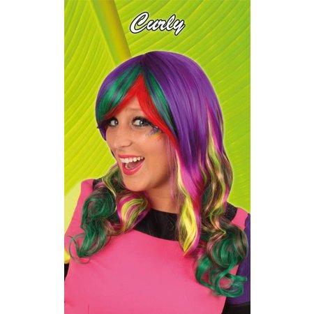 Pruik dip dye Curly