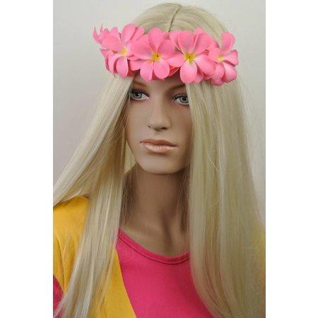 Haarband met Bloemen Roze