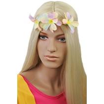 Haarband met bloemen Zomerkleuren