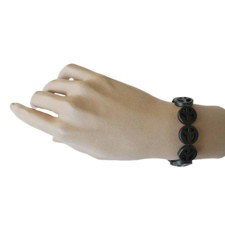 Peace Armband Zwart