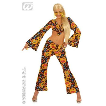 Hippie schoonheid seventees kostuum vrouw