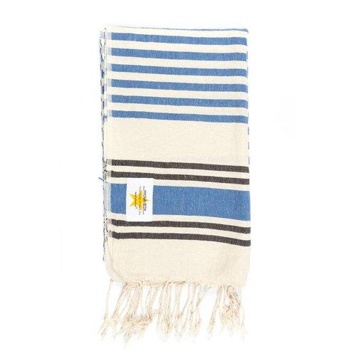 Mycha Ibiza Hamamdoek streep donkerblauw