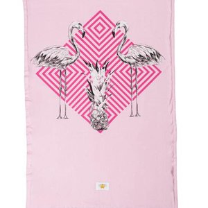 Mycha Ibiza Kikoy strandlaken flamingo roze