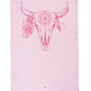 Mycha Ibiza Kikoy strandlaken Cow roze