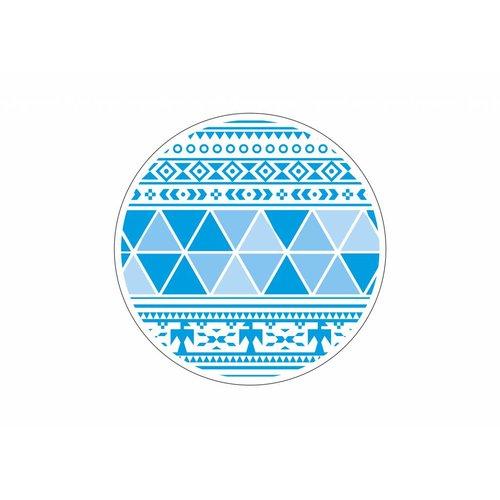 Mycha Ibiza Roundie Aztec 3  blauw met badstof