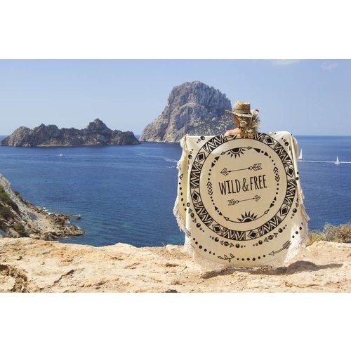 Mycha Ibiza Roundie Wild and free zwart met badstof