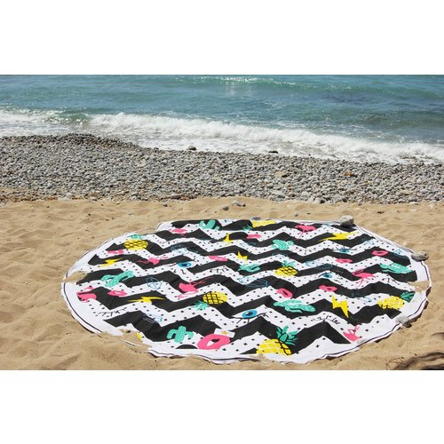 Mycha Ibiza Roundie rond strandlaken Cala Embleem