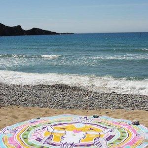 Mycha Ibiza Roundie rond strandlaken Cala skull multi