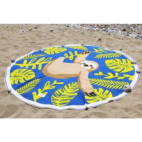 Mycha Ibiza Roundie rond strandlaken Cala luiaard blauw