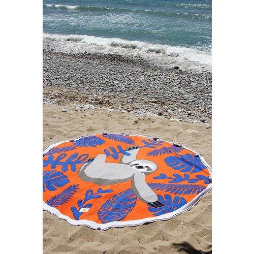 Mycha Ibiza Roundie rond strandlaken Cala luiaard oranje