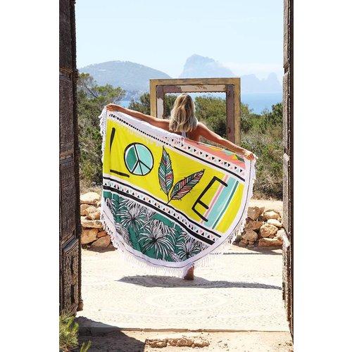 Mycha Ibiza Roundie Love Lime met badstof