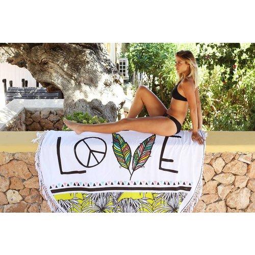 Mycha Ibiza Roundie Love wit met badstof