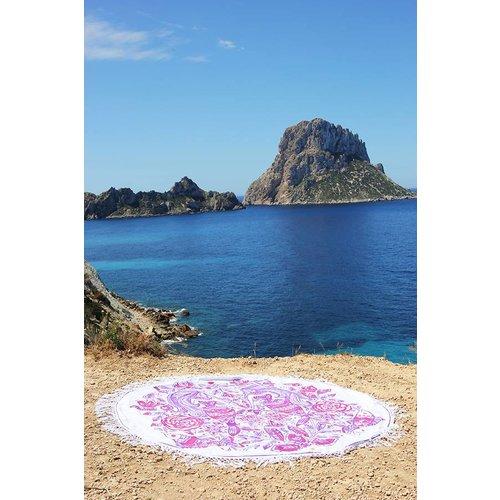 Mycha Ibiza Roundie zeemeermin roze met badstof
