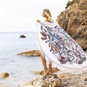 Mycha Ibiza Roundie zeemeermin gekleurd met badstof