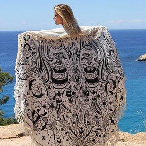 Mycha Ibiza Roundie zeemeermin zwart met badstof
