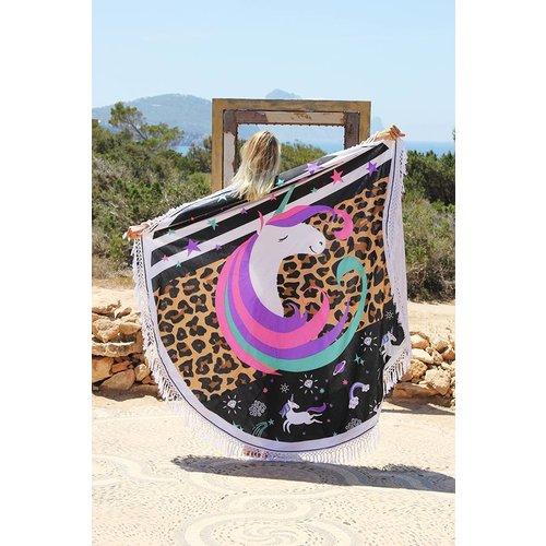 Mycha Ibiza Roundie Unicorn gekleurd met badstof