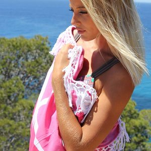 Mycha Ibiza Roundie Aztec 2  roze met badstof