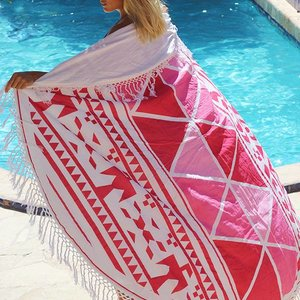 Mycha Ibiza Roundie Aztec 3  roze met badstof
