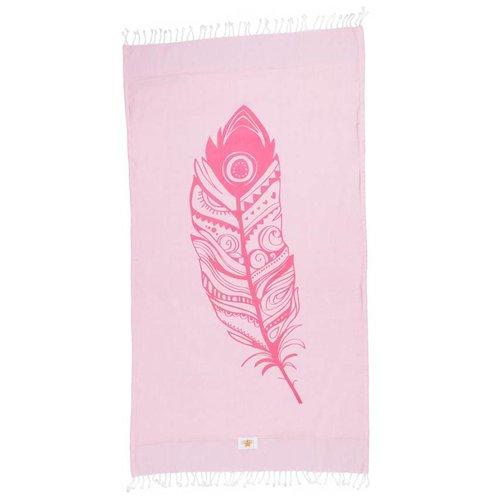 Mycha Ibiza Kikoy strandlaken veer roze