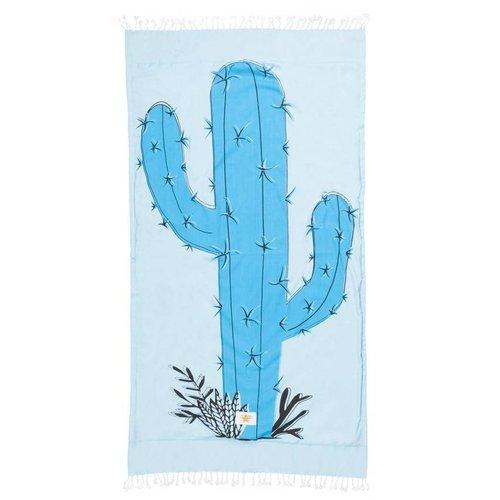 Mycha Ibiza Kikoy strandlaken cactus blauw