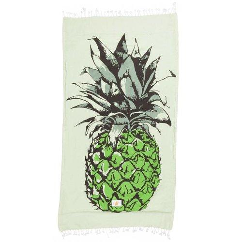 Mycha Ibiza Kikoy strandlaken ananas groen