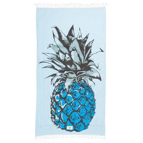 Mycha Ibiza Kikoy strandlaken ananas blauw
