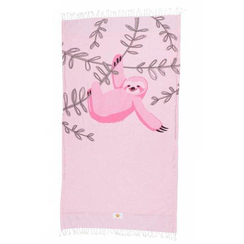 Mycha Ibiza Kikoy strandlaken luiaard roze