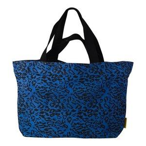 Mycha Ibiza Leopard XL shopper donkerblauw