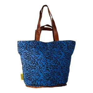 Mycha Ibiza Leopard shopper donkerblauw