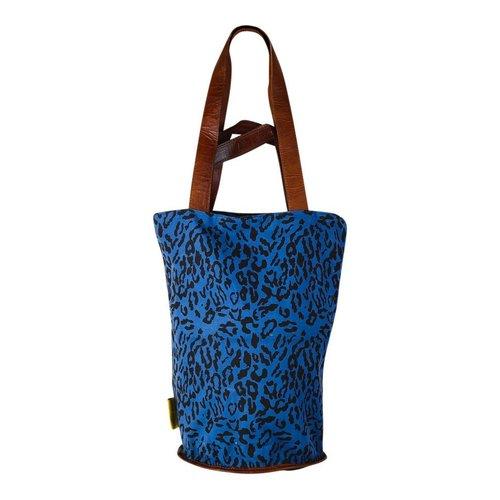 Mycha Ibiza Leopard tas donkerblauw