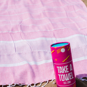 Take A Towel Take A Towel Hamamdoek roze space TAT 1-2