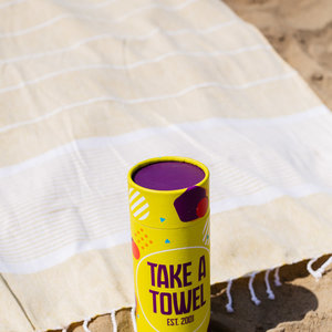 Take A Towel Take A Towel Hamamdoek geel space TAT 1-6