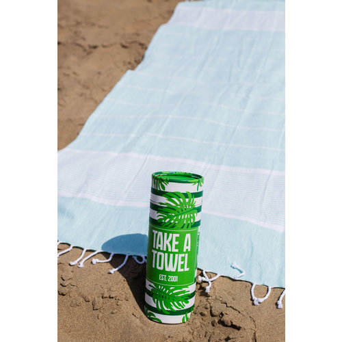 Take A Towel Take A Towel Hamamdoek groen Tropical  TAT 2-1