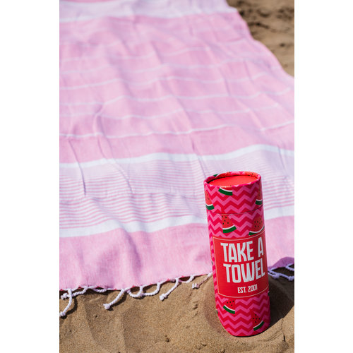 Take A Towel Take A Towel Hamamdoek roze tropical  TAT 2-2