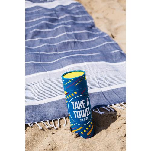 Take A Towel Take A Towel Hamamdoek donkerblauw space TAT 1-3