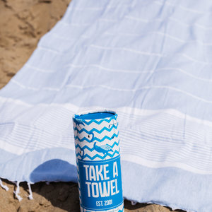 Take A Towel Take A Towel Hamamdoek lichtblauw tropical TAT 2-4