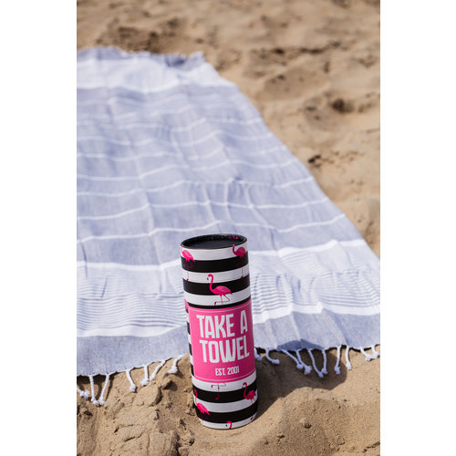 Take A Towel Take A Towel Hamamdoek zwart tropical TAT 2-5