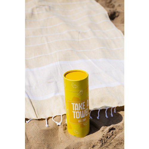 Take A Towel Take A Towel Hamamdoek geel Tropical TAT 2-6
