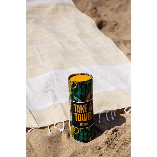 Take A Towel Take A Towel Hamamdoek geel leopard TAT 3-1