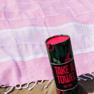 Take A Towel Take A Towel Hamamdoek roze leopard TAT 3-5