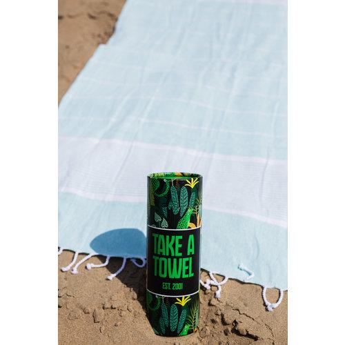 Take A Towel Take A Towel Hamamdoek groen leopard TAT 3-6