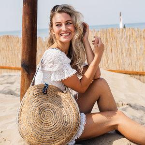 Mycha Ibiza Jute ronde tas Cala Bassa 3