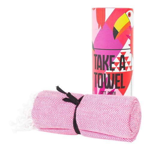 Take A Towel Take A Towel Hamamdoek roze Toekan TAT 4-2
