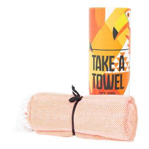 Take A Towel Take A Towel Hamamdoek oranje Toekan  TAT 4-3