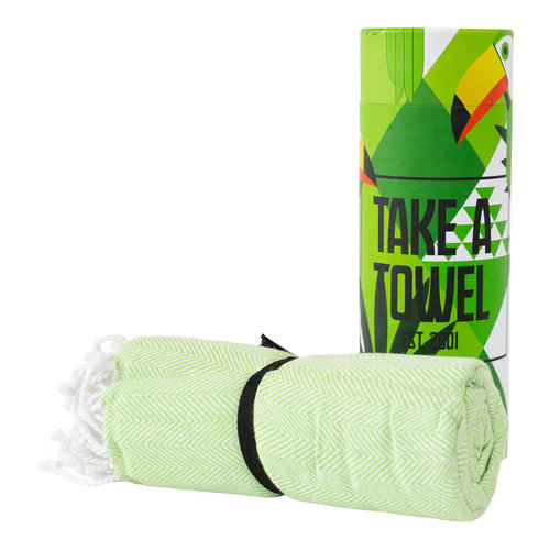Take A Towel Take A Towel Hamamdoek groen Toekan TAT 4-5